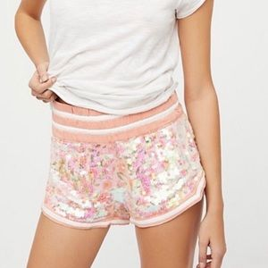 Free people sequin shorts